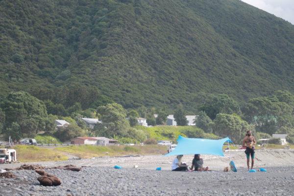 Chil Hut on bank